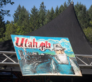 Stage dedicated to Utah Phillips at Kate Wolf Memorial Festival